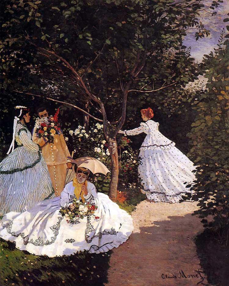 FEMMES AU JARDIN 1867
